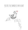 Greeting card youre the owner of my heart with vector image vector image