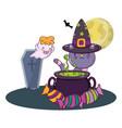 halloween cute cartoons vector image vector image