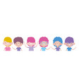 happy childrens day group little cute boys vector image