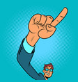 index finger up hand gesture positive businessman vector image vector image