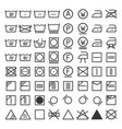 laundry and washing icon set vector image vector image