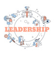 leadership concept leadership concept vector image