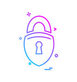 locked icon design vector image