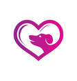 love pet shop logo vector image vector image