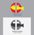 Manna church logo vector image