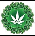 Marijuana leaf silhouette design stamp vector image vector image