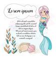 mermaid phone school autumn sea underwater vector image vector image