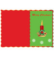 merry christmas congratulatory postcard vector image