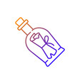 message in bottle gradient linear icon vector image