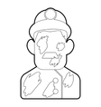 Miner icon outline style vector image vector image