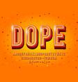 modern 3d display font design alphabet letters vector image vector image