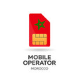 morocco mobile operator sim card with flag vector image vector image