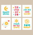 nursery kids posters set vector image