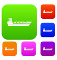 oil tanker ship set collection vector image vector image