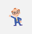 old businessman with glasses something angry vector image vector image