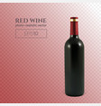photorealistic bottle of red wine on a transparent vector image vector image