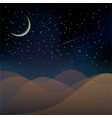 Planet surface on a dark starry sky background vector image vector image
