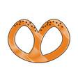 pretzel german snack vector image