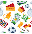 seamless pattern at football theme vector image vector image