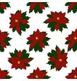 seamless pattern of christmas poinsettia vector image