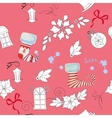 Seamless pattern with Christmas things-03 vector image