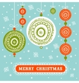 Seamless xmas decoration vector image vector image
