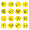 set of 16 communication icons includes online