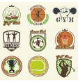 Set of vintage sports emblems vector image vector image