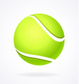 simple shaded tennis ball vector image vector image