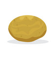 single potatoe with flat and solid color vector image