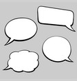speech bubbles hand drawn sketch in comic book vector image vector image