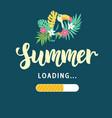 summer loading modern amusing poster vector image vector image