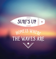 Surf vintage retro poster Hawaii beach wave banner vector image vector image
