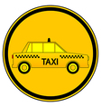 Taxi car button vector image