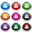 three dice cubes set 9 collection vector image vector image