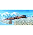 Train in Alps vector image vector image