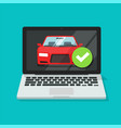 vehicle car online insurance contract policy vector image vector image