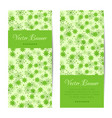 vertical banner green pattern with flowers vector image vector image