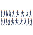 walking animation business characters 2d vector image vector image