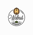 walnut logo round linear walnut vector image