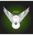 white saint goat with great white wings eps10 vector image vector image