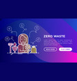 zero waste concept with thin line icons menstrual vector image