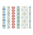 Color ethnic ornament vector image
