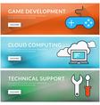 Flat design concept for game development cloud vector image