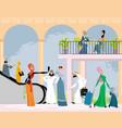 arab men and women vector image