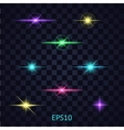 Lights on the transparent background vector image