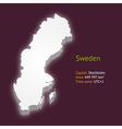 3d map of sweden vector image vector image