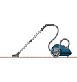 a modern vacuum cleaner is a side view 3d view vector image