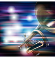 abstract blue white music background with trumpet vector image vector image