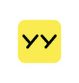 astana kazakhstan -20 july 2020 yy icon yy logo vector image vector image